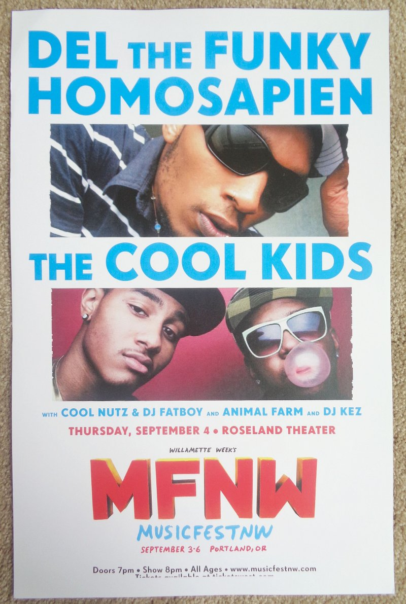 Image 0 of DEL THE FUNKY HOMOSAPIEN & COOL KIDS POSTER Musicfest NW Oregon 2008 Gig Concert
