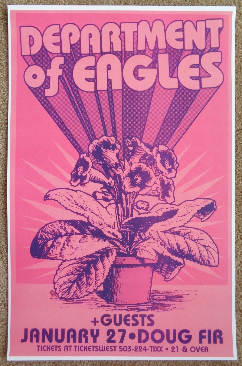 Image 0 of DEPARTMENT OF EAGLES 2009 Gig POSTER Portland Oregon GRIZZLY BEAR Concert