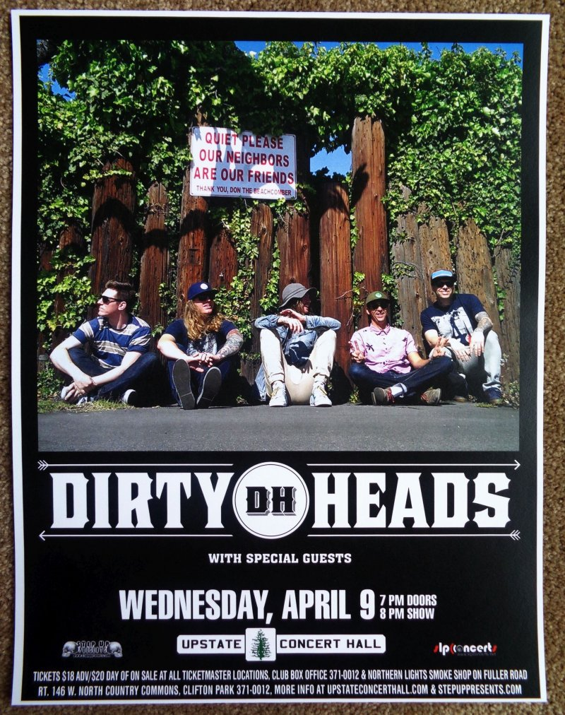 Image 0 of DIRTY HEADS 2014 Gig POSTER Concert Clifton Park New York