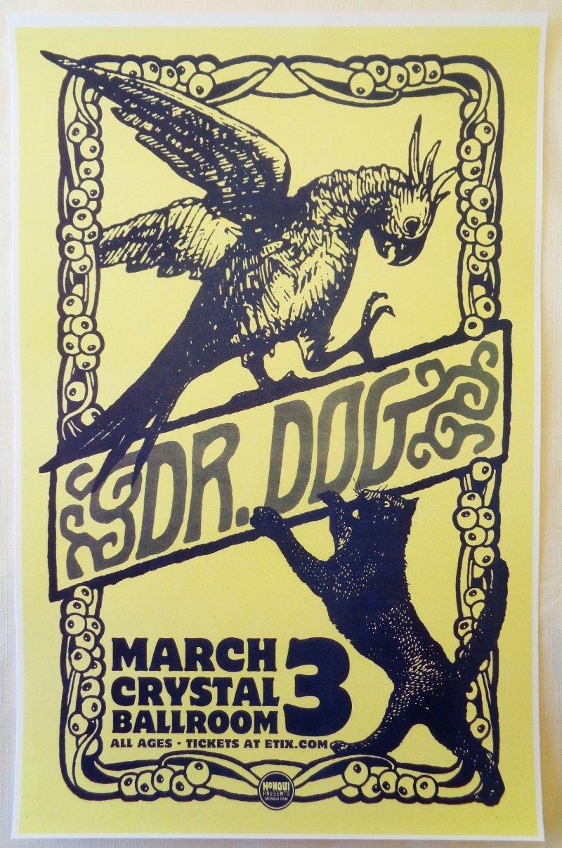 Image 0 of DR. DOG 2014 Gig POSTER Portland Oregon Concert B-Room Version 2