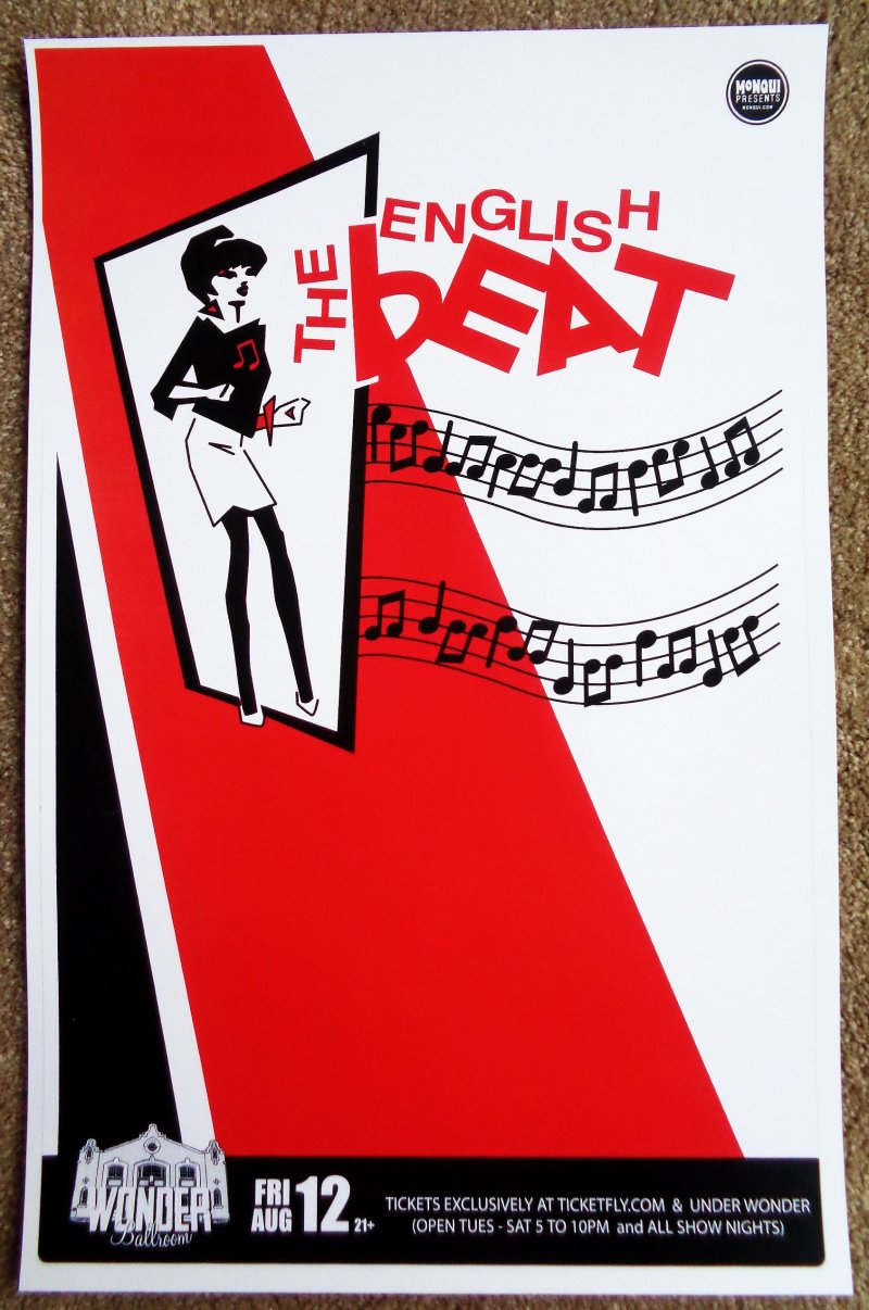 Image 0 of ENGLISH BEAT 2011 Gig POSTER Portland Oregon Concert