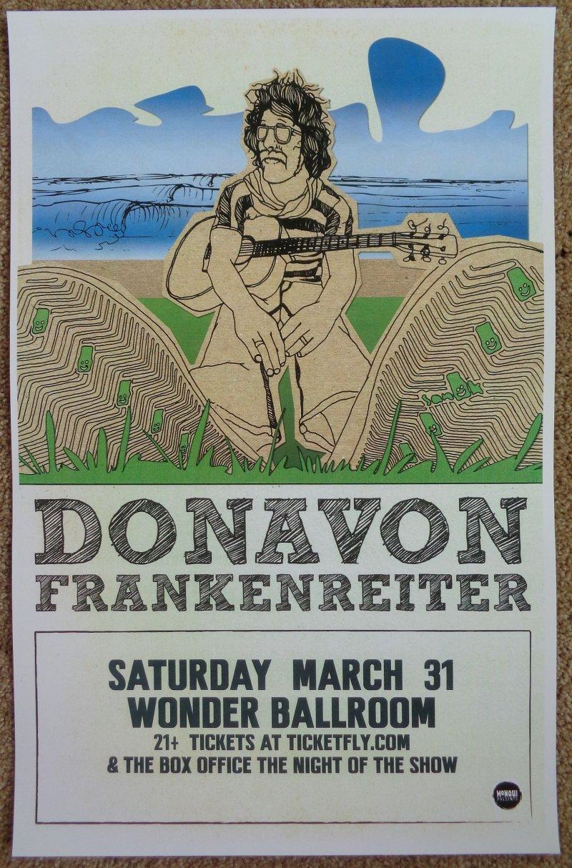 Image 0 of Frankenreiter DONAVON FRANKENREITER 2012 Gig Concert POSTER Portland Oregon