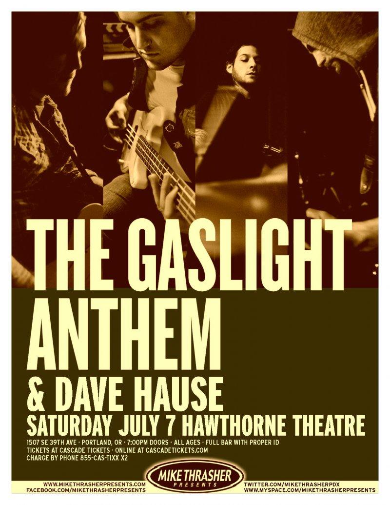 GASLIGHT ANTHEM 2012 Gig POSTER Portland Oregon Concert