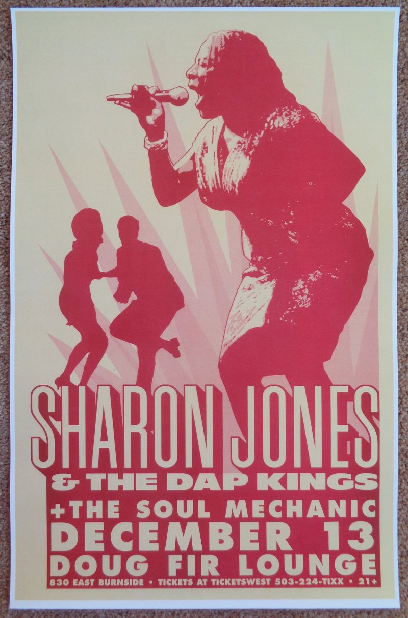 Image 0 of Jones SHARON JONES & THE DAP KINGS 2005 Gig POSTER Portland Oregon Concert