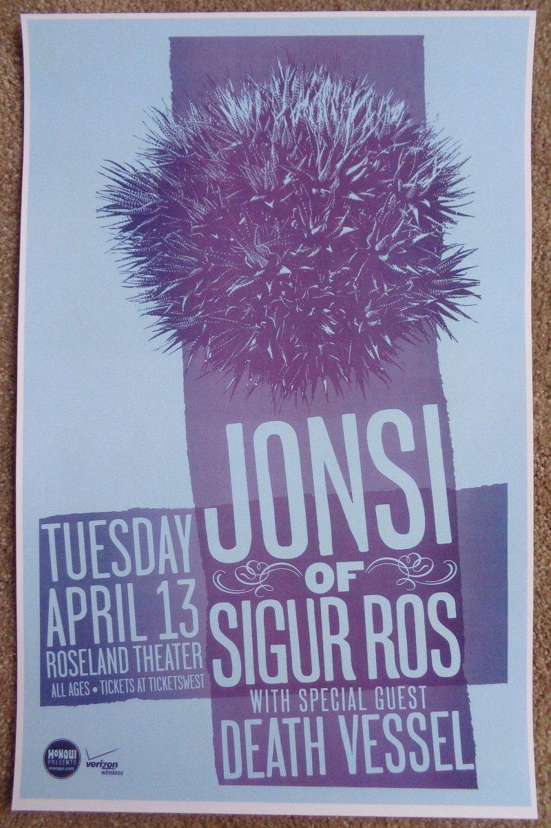 Image 0 of JONSI of SIGUR ROS 2010 Gig POSTER Portland Oregon Concert Version 1