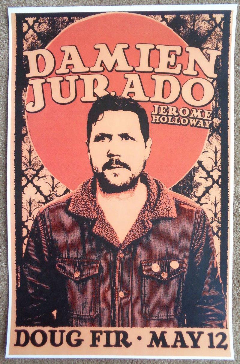 Image 0 of Jurado DAMIEN JURADO 2014 Gig POSTER Portland Oregon Concert