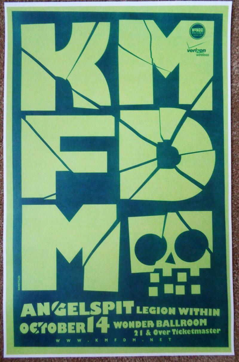 Image 0 of KMFDM 2009 Gig POSTER Portland Oregon Concert