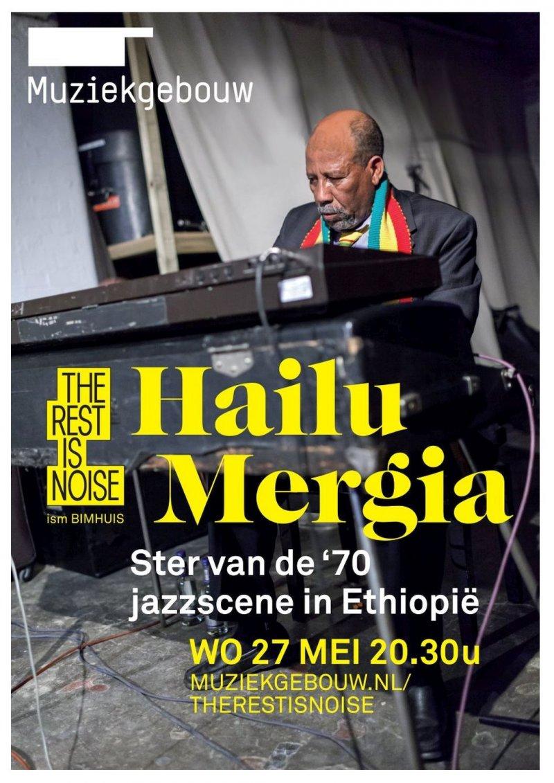 Mergia HAILU MERGIA 2015 Gig POSTER Amsterdam Netherlands Concert