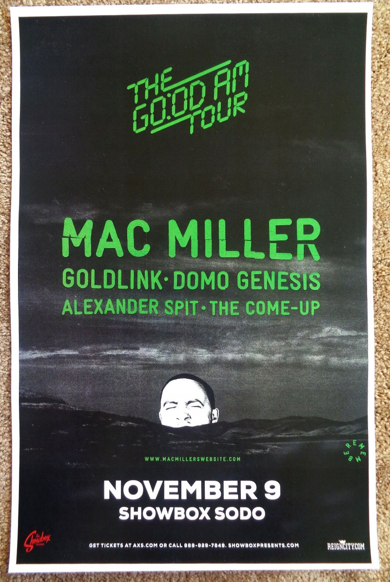 Image 0 of Miller MAC MILLER 2015 Gig POSTER Concert Seattle Washington