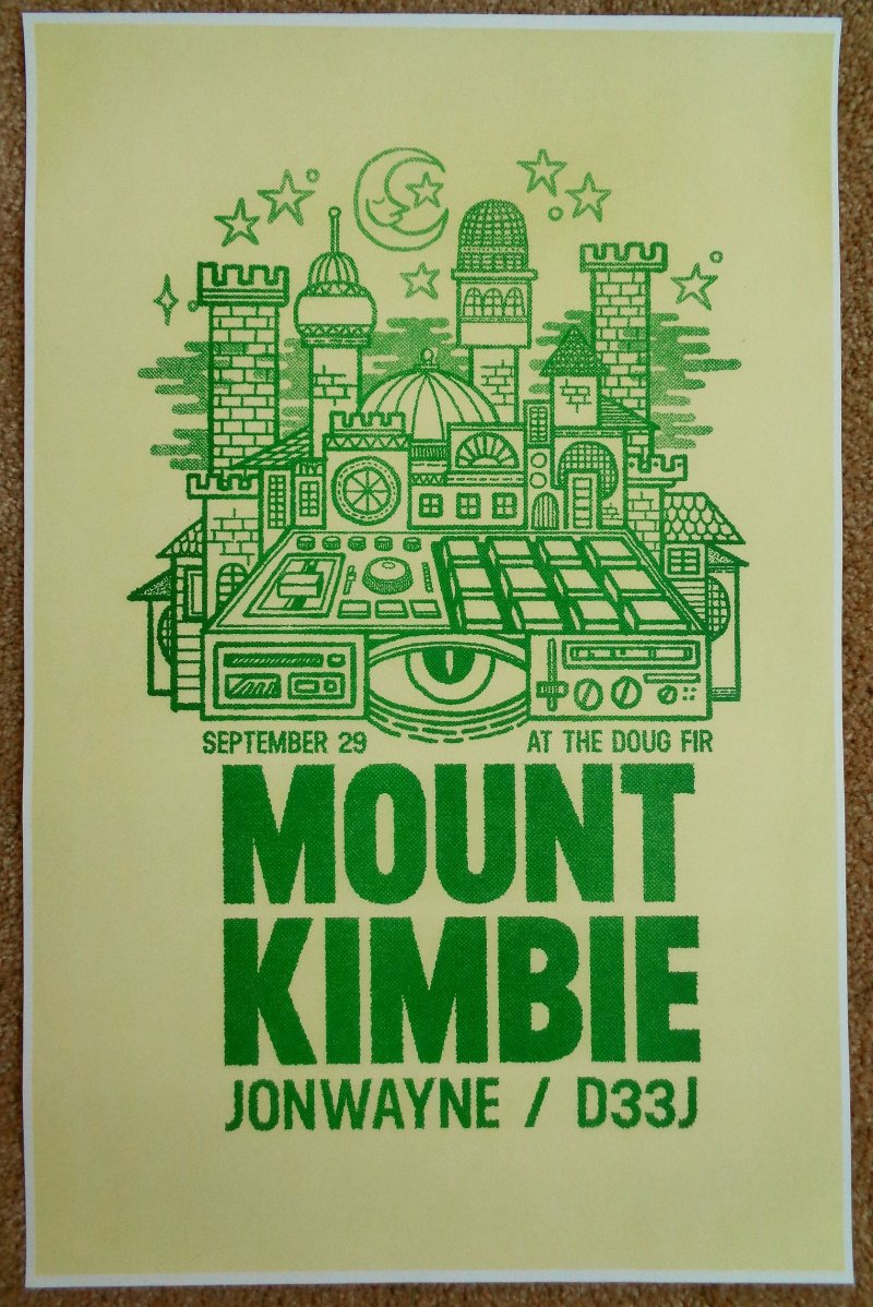 Image 0 of MOUNT KIMBIE 2013 Gig POSTER Portland Oregon Concert