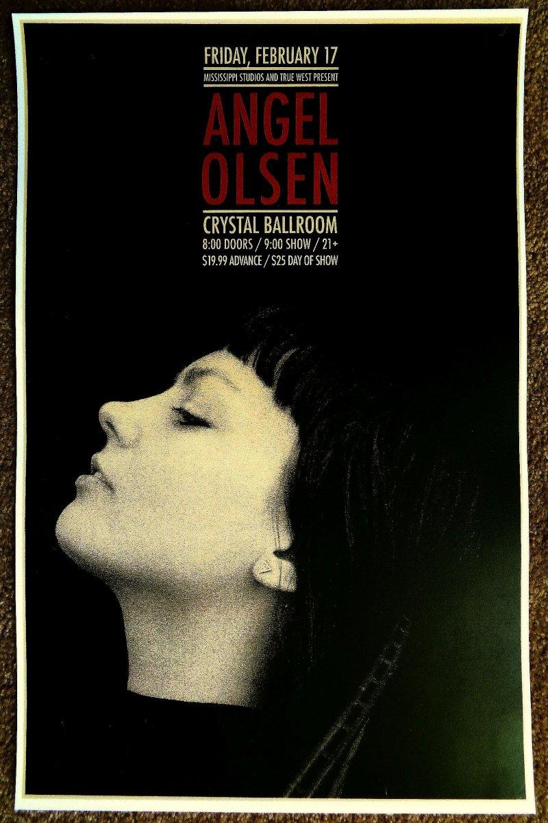Image 0 of Olsen ANGEL OLSEN 2017 Gig POSTER Portland Oregon Concert