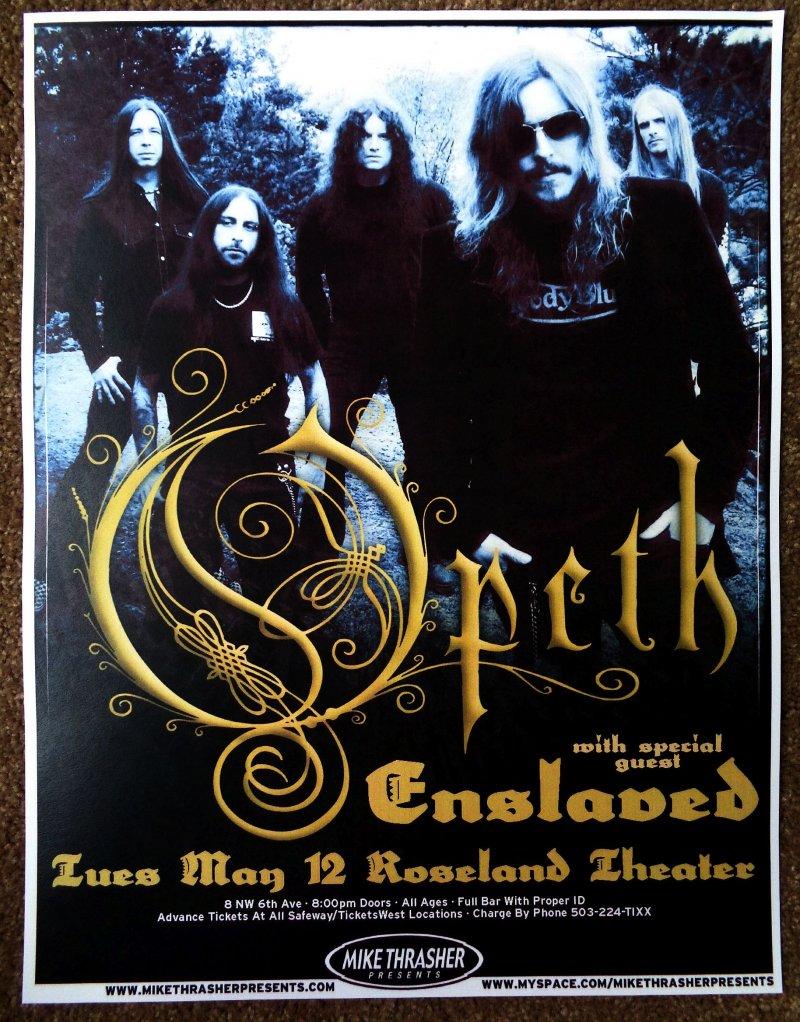 Image 0 of OPETH 2009 Gig POSTER Portland Oregon Concert