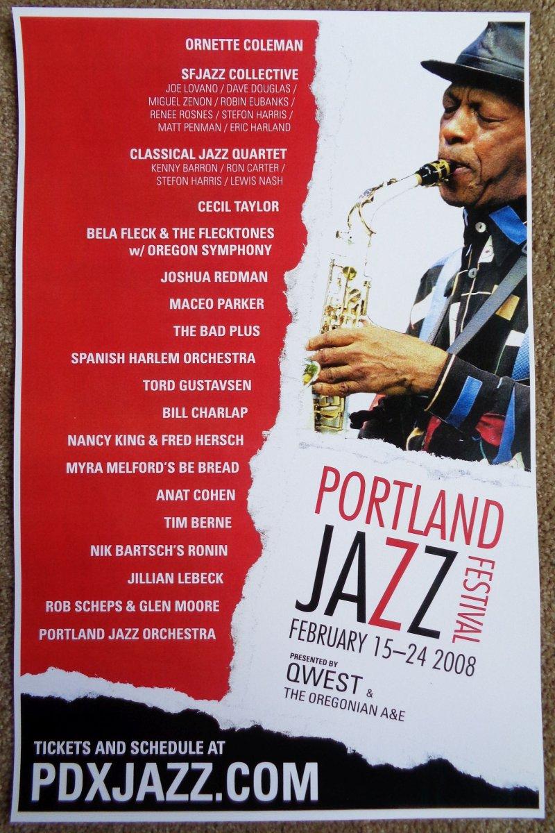 Image 0 of PORTLAND JAZZ FESTIVAL 2008 POSTER ORNETTE COLEMAN Portland Oregon