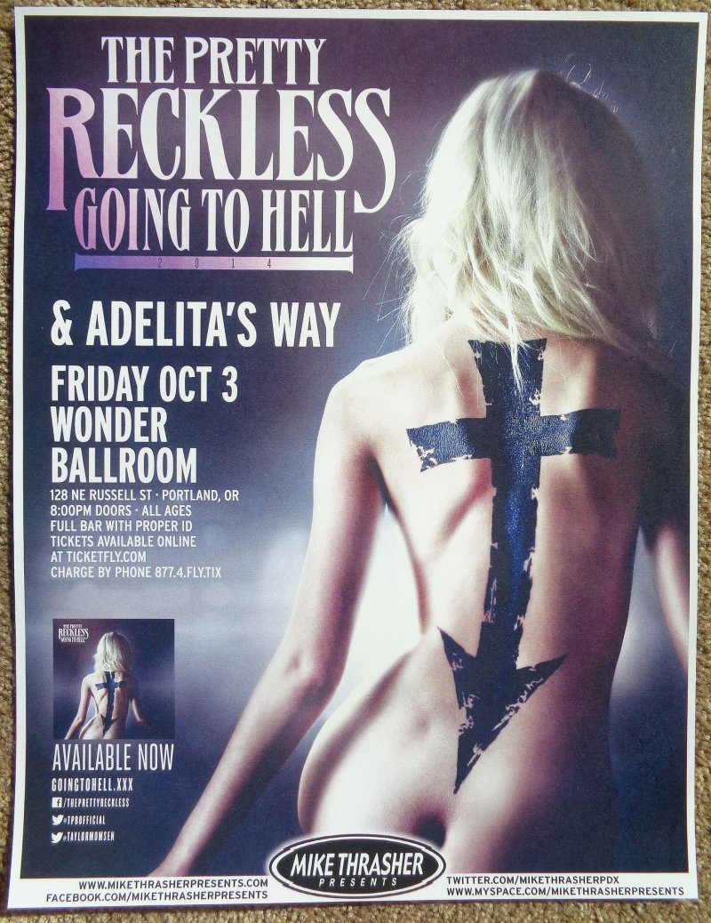 Image 0 of PRETTY RECKLESS Taylor Momsen Gig POSTER 2014 Concert Portland Oregon