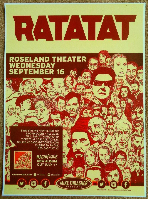 Image 0 of RATATAT 2015 Gig POSTER Portland Oregon Concert