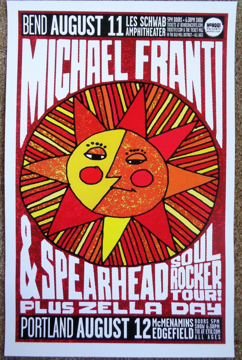 Image 0 of Spearhead MICHAEL FRANTI 2016 Gig POSTER Bend & Edgefield Oregon Concert