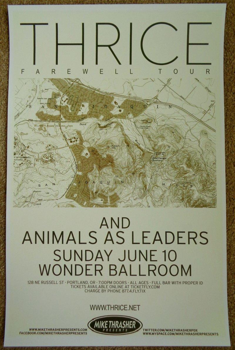 Image 0 of THRICE 2012 Gig POSTER Portland Oregon Concert