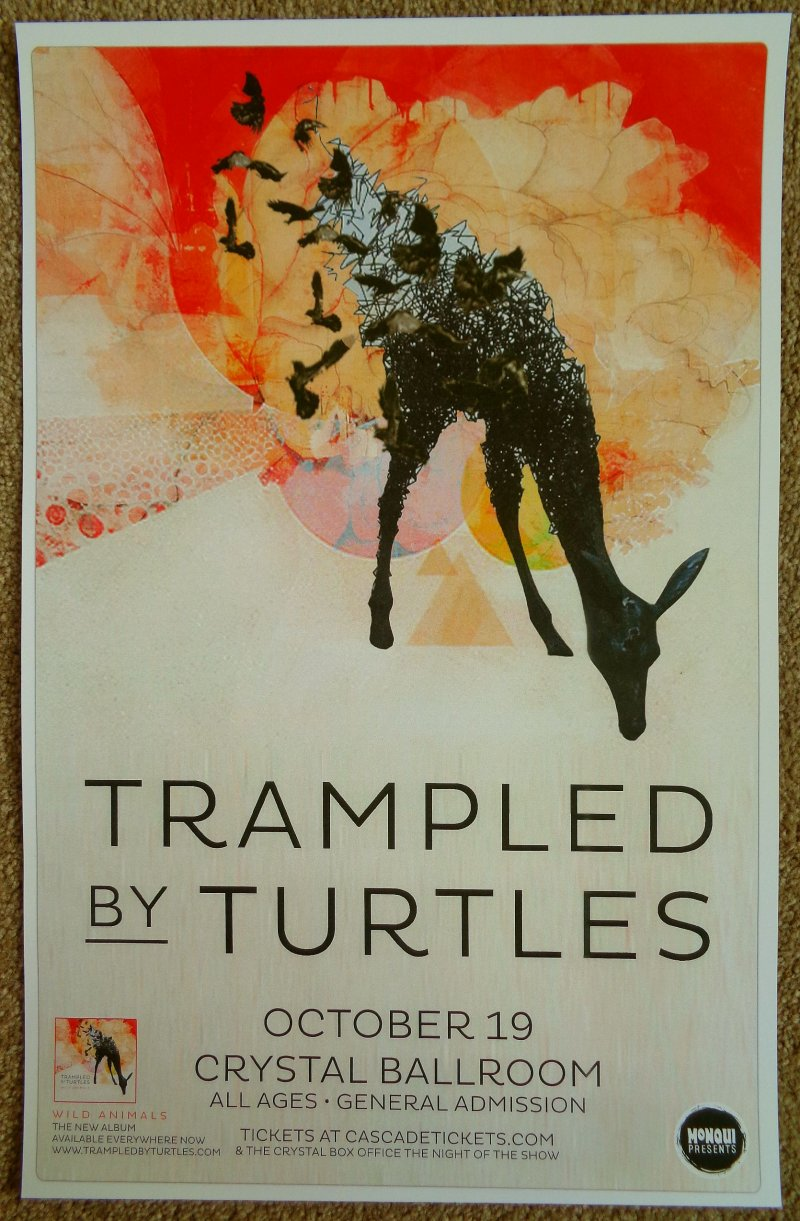 Image 0 of TRAMPLED BY TURTLES 2014 Gig POSTER Portland Oregon Concert