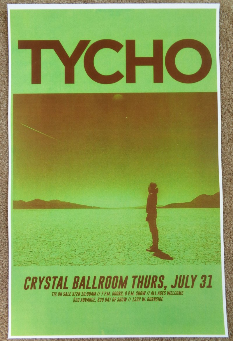 Image 0 of TYCHO 2014 Gig POSTER Portland Oregon Concert