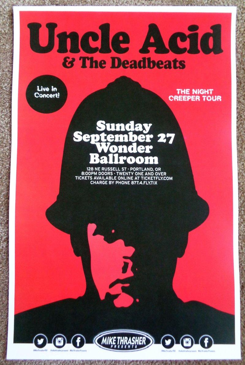 Image 0 of UNCLE ACID & THE DEADBEATS 2015 Gig POSTER Portland Oregon Concert