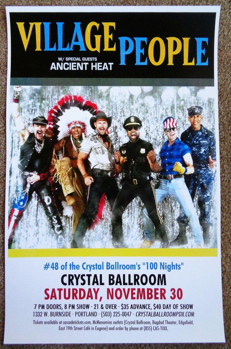 Image 0 of VILLAGE PEOPLE 2013 Gig POSTER Portland Oregon Concert