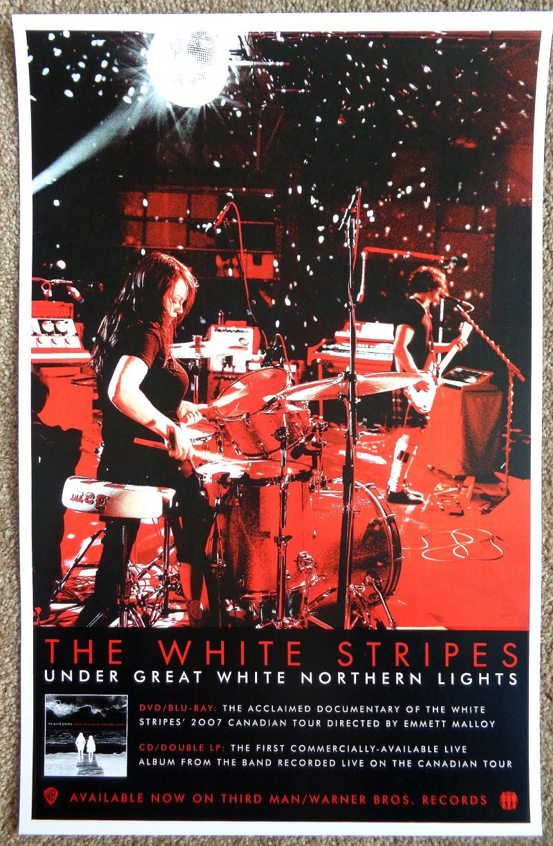 Image 0 of White Stripes THE WHITE STRIPES POSTER Under Great White Northern Lights Album