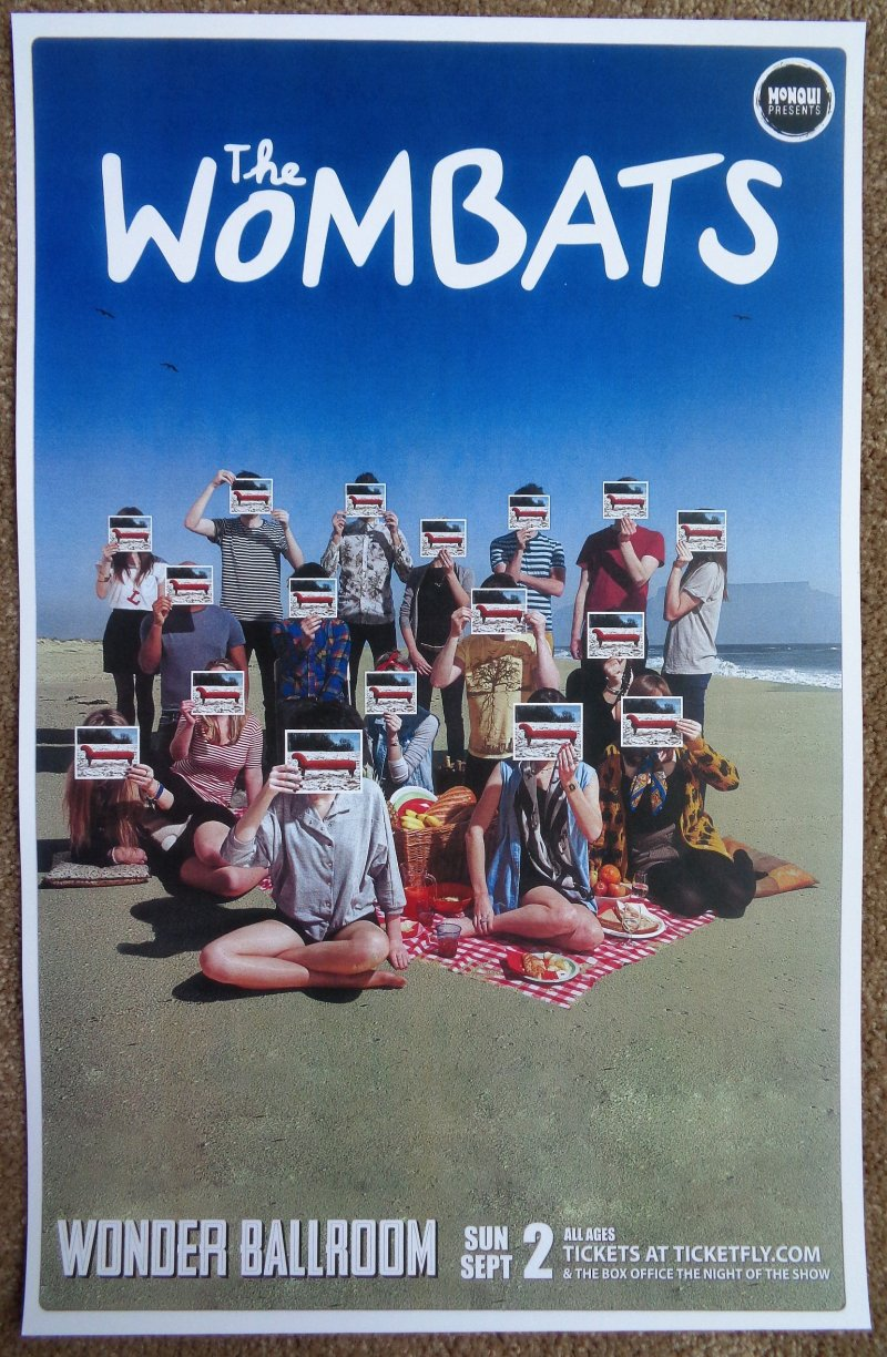 Image 0 of Wombats THE WOMBATS 2012 Gig POSTER Portland Oregon Concert