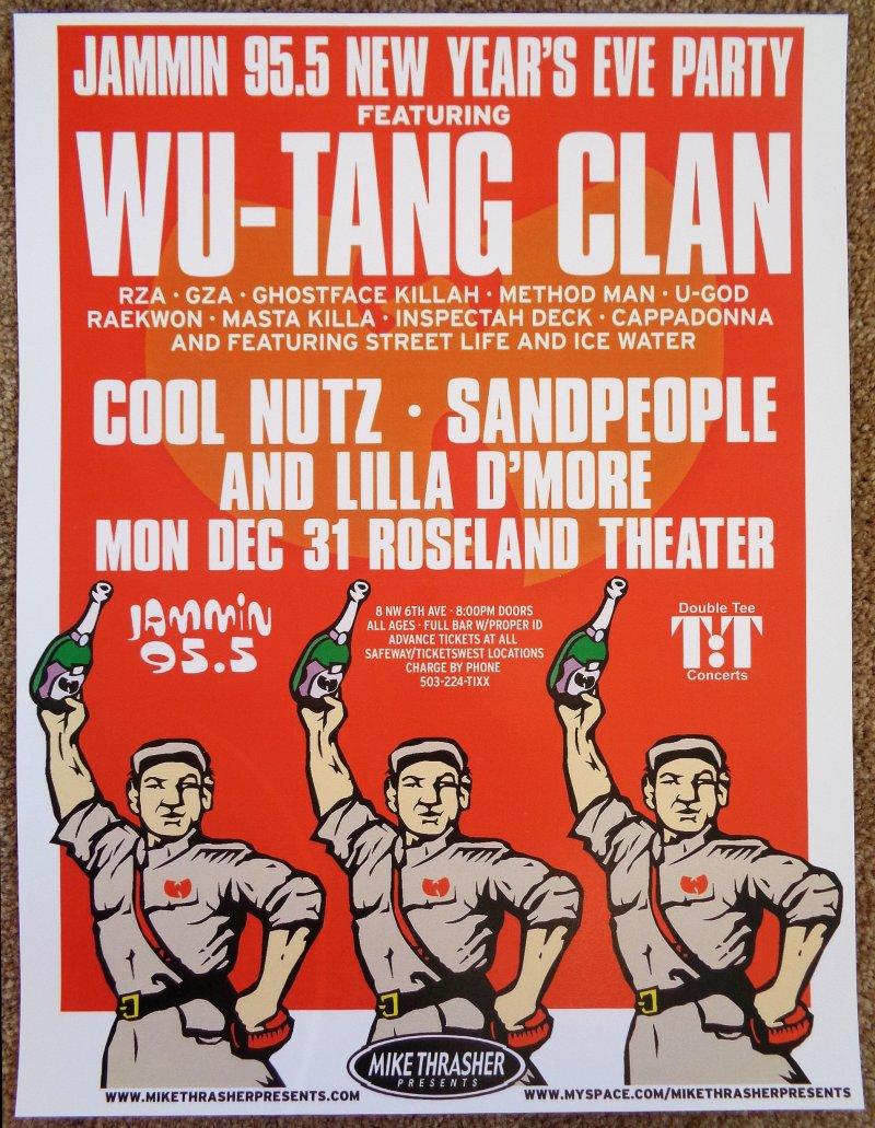 Image 0 of WU TANG CLAN 2007 Gig POSTER Portland Oregon Concert