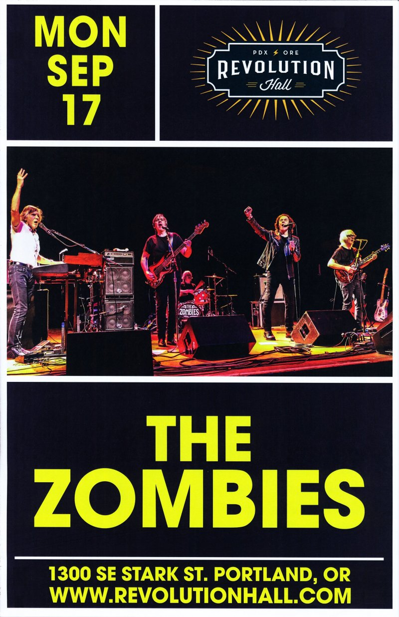 Zombies THE ZOMBIES 2018 Gig POSTER Concert Colin BLUNSTONE & Rod ARGENT