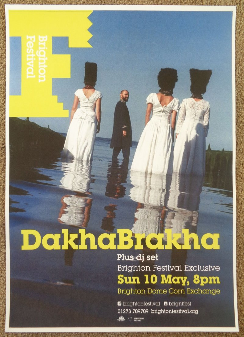DAKHABRAKHA 2015 Gig POSTER Brighton United Kingdom Concert Ukraine