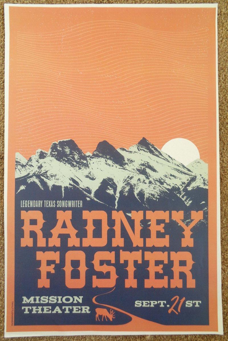 Foster RADNEY FOSTER 2018 Gig POSTER Portland Oregon Concert
