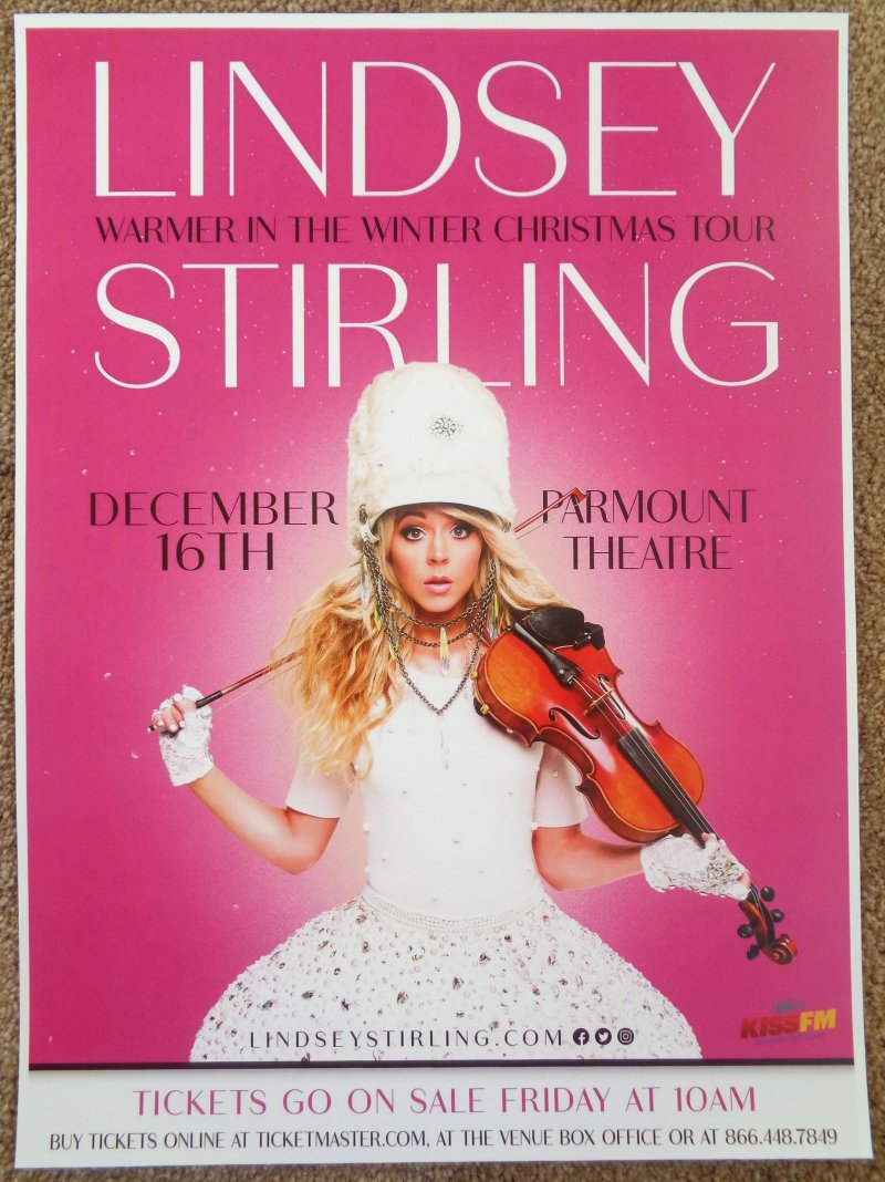 Stirling LINDSEY STIRLING 2017 Gig POSTER Seattle Washington Concert
