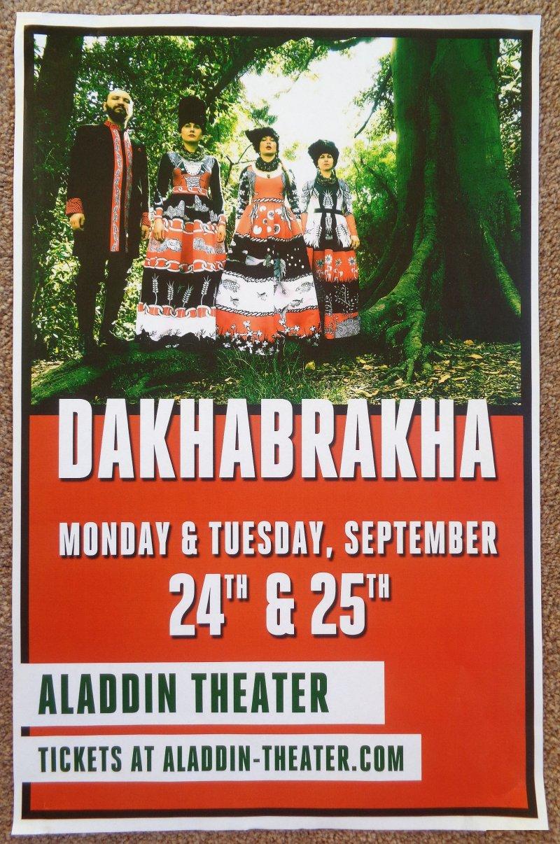 DAKHABRAKHA 2018 Gig POSTER Portland Oregon Concert Ukraine