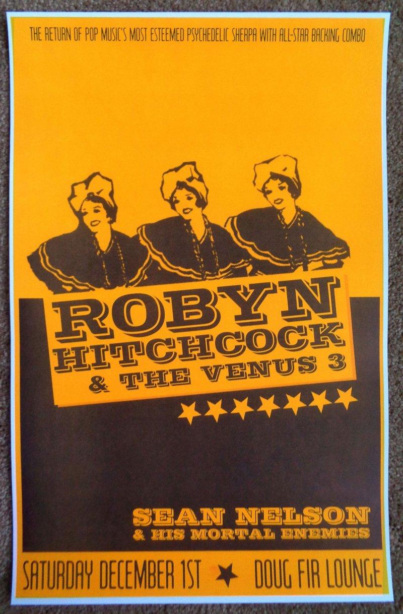 Image 0 of Hitchcock ROBYN HITCHCOCK 2007 Gig POSTER Portland Oregon December Concert