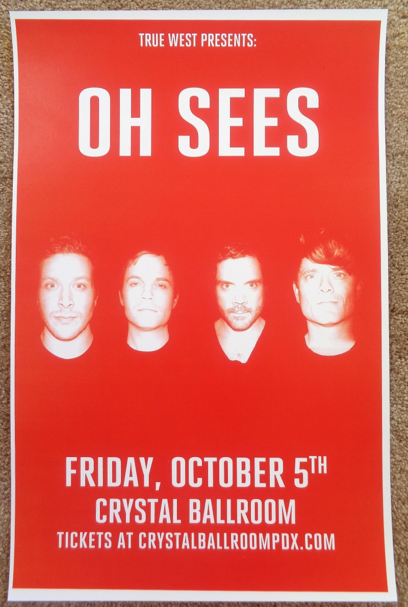 Image 0 of THEE OH SEES 2018 Gig POSTER Portland Oregon Concert