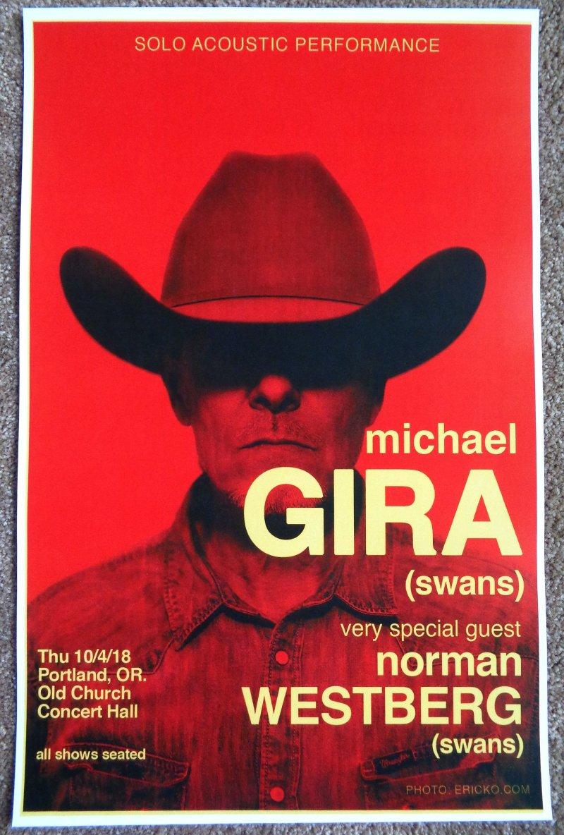 Image 0 of Gira MICHAEL GIRA of SWANS 2018 Gig POSTER Portland Oregon Concert