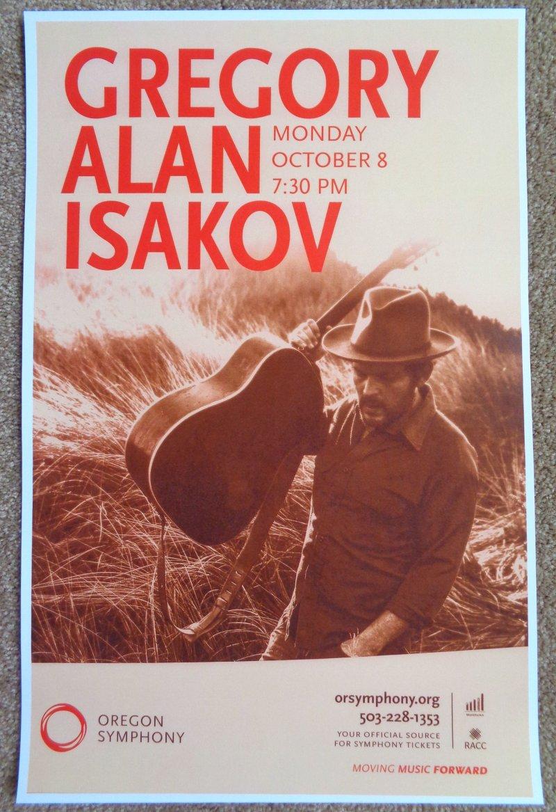 Image 0 of Isakov GREGORY ALAN ISAKOV 2018 Gig POSTER Portland Oregon Concert