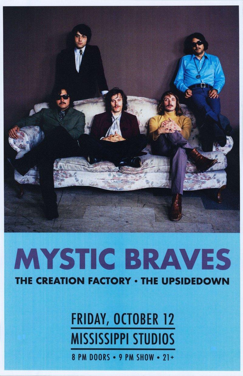 MYSTIC BRAVES 2018 Gig POSTER Portland Oregon Concert