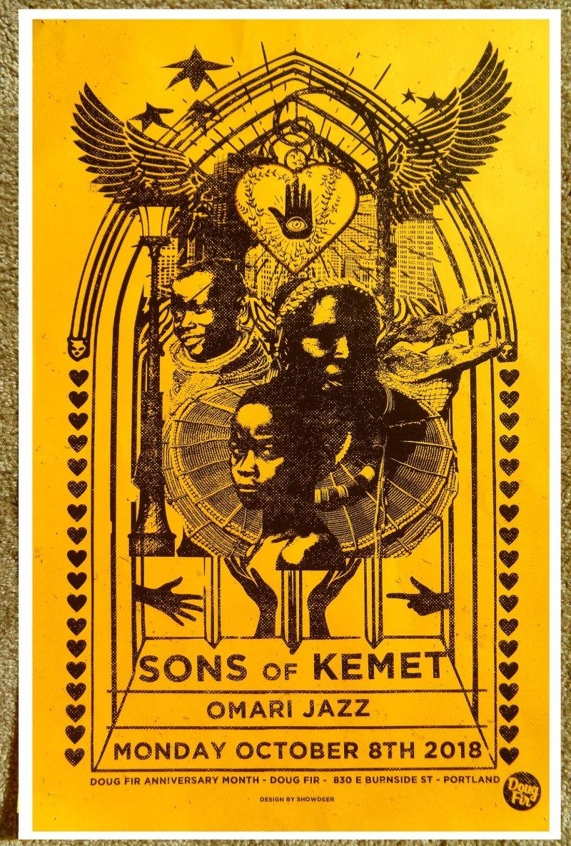 SONS OF KEMET 2018 Gig POSTER Portland Oregon Concert