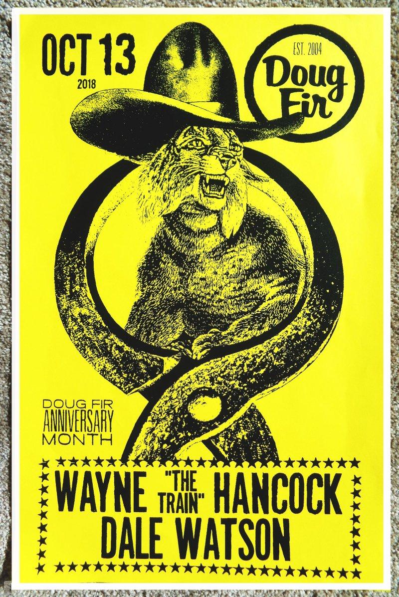 Image 0 of Hancock WAYNE HANCOCK 2018 Gig POSTER Portland Oregon Concert The Train
