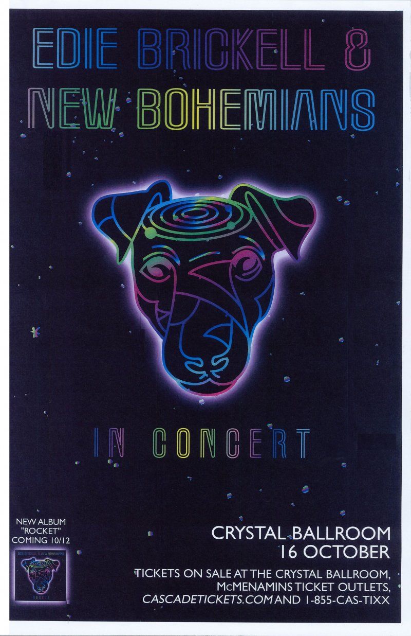 Brickell EDIE BRICKELL & THE BOHEMIANS 2018 Gig POSTER Portland Oregon Concert