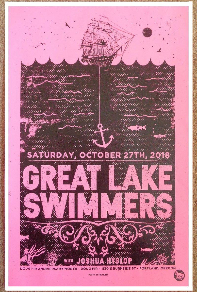 Image 0 of GREAT LAKE SWIMMERS 2018 Gig POSTER Portland Oregon Concert