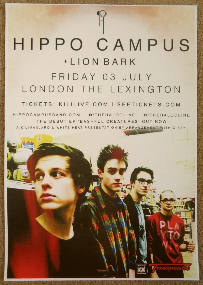 HIPPO CAMPUS 2015 Gig POSTER London United Kingdom Concert