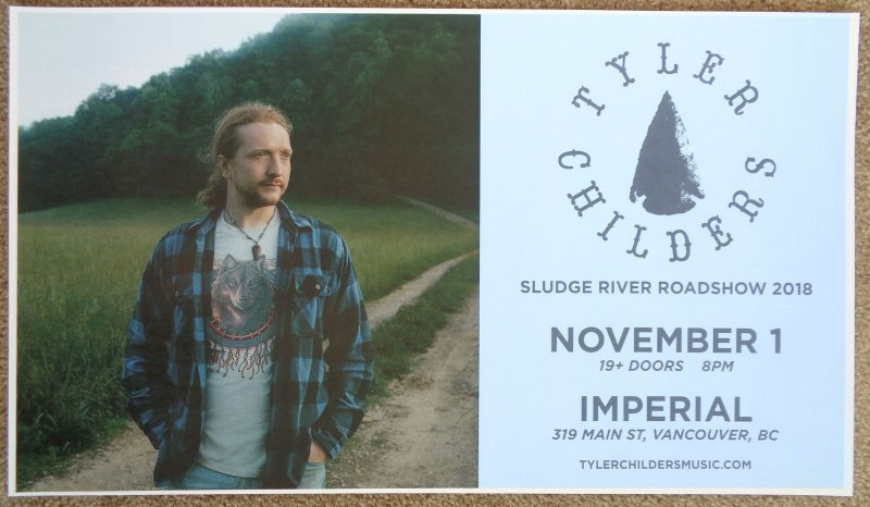 Image 0 of Childers TYLER CHILDERS 2018 Gig POSTER Vancouver Canada Concert