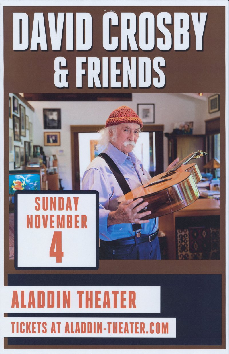Image 0 of Crosby DAVID CROSBY 2018 Gig POSTER Portland Oregon Concert