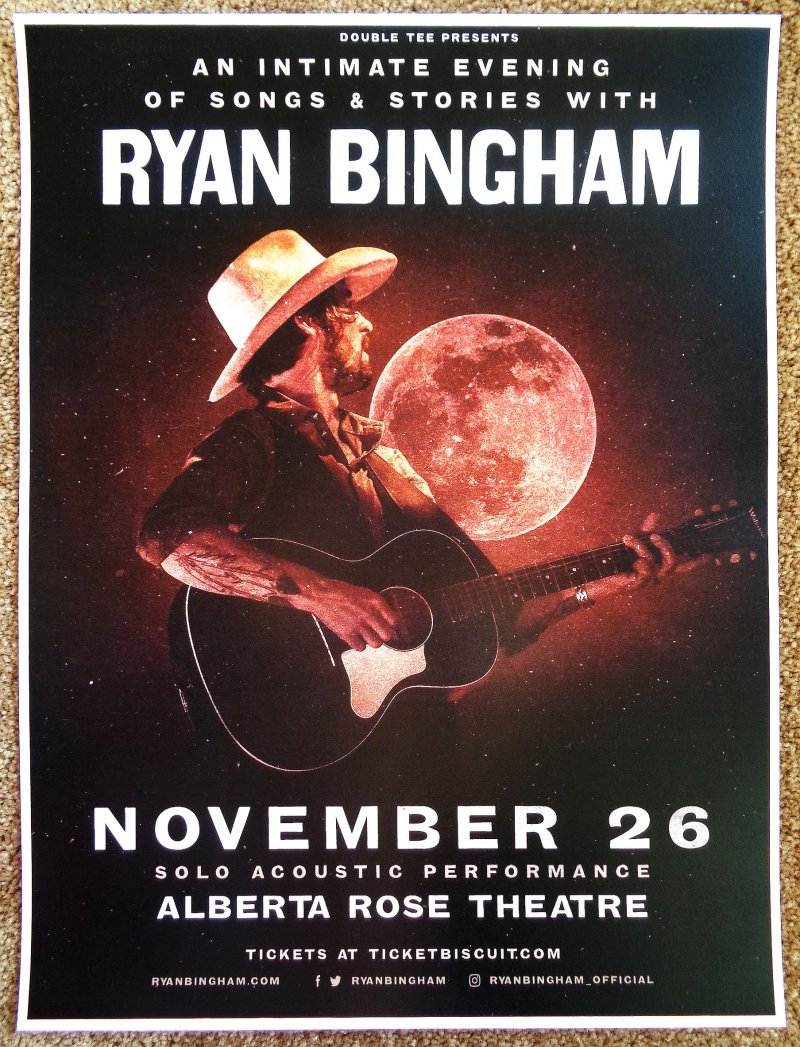 Image 0 of Bingham RYAN BINGHAM 2018 Gig POSTER Portland Oregon Concert