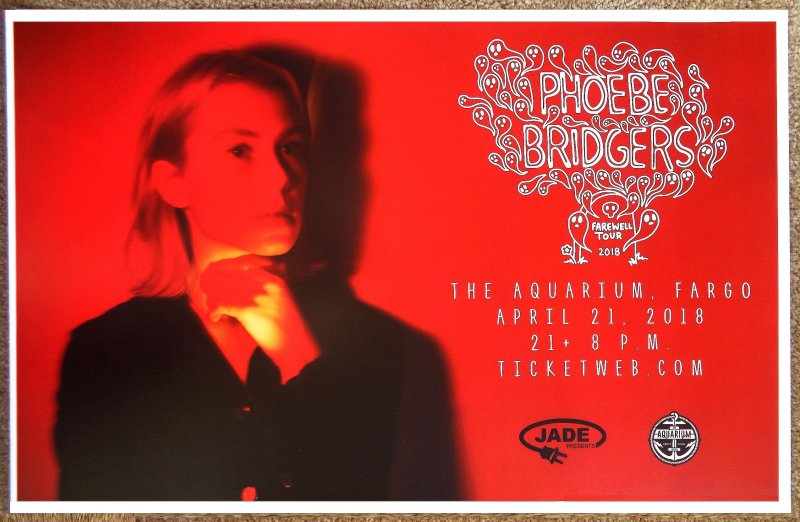 Image 0 of Bridgers PHOEBE BRIDGERS 2018 Gig POSTER Fargo North Dakota Concert