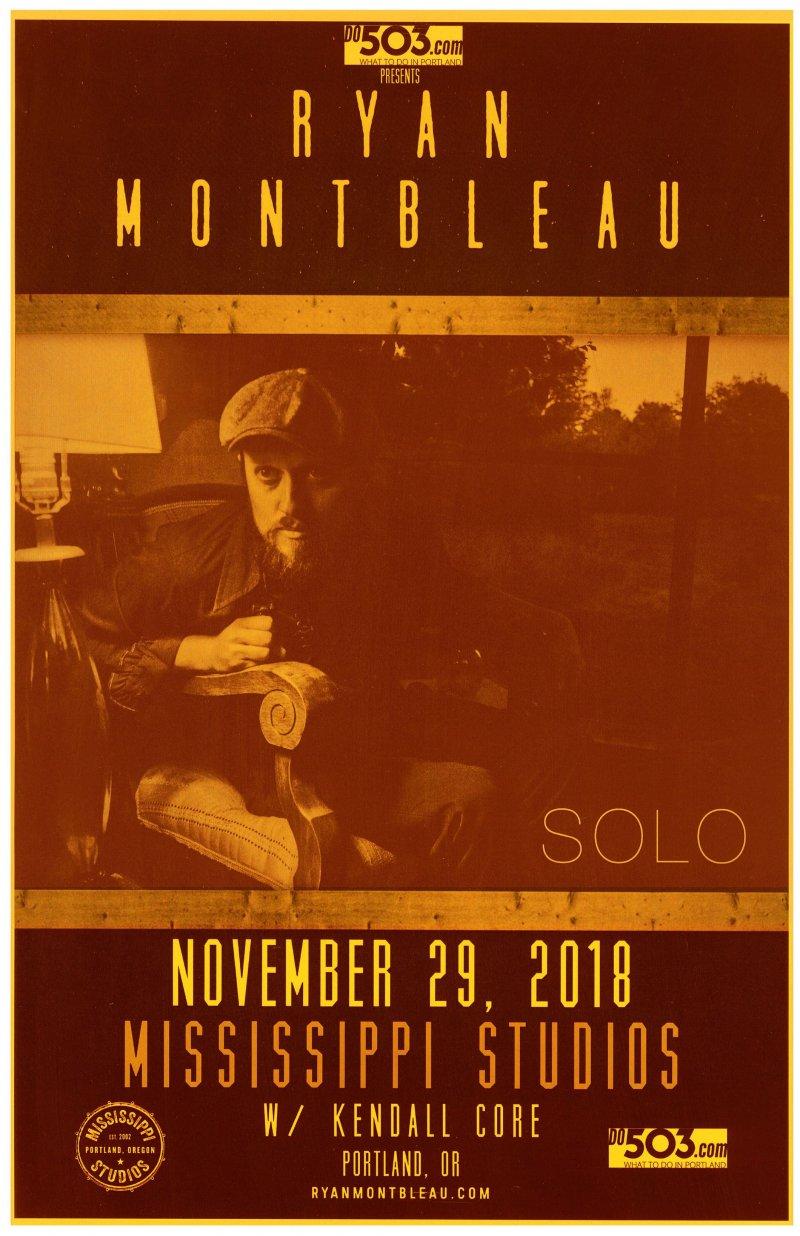 Montbleau RYAN MONTBLEAU 2018 Gig POSTER Portland Oregon Concert