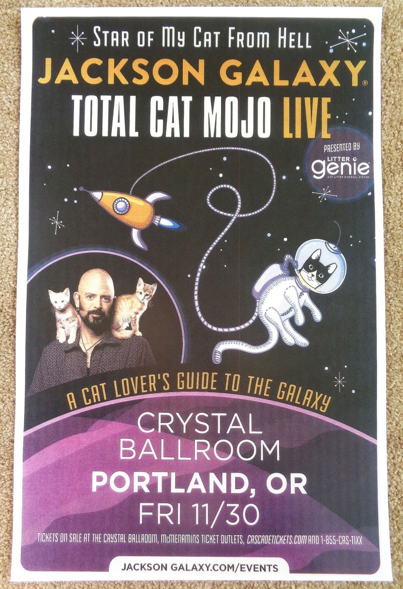 Image 0 of Galaxy JACKSON GALAXY 2018 Gig POSTER Portland Oregon CAT DADDY Total Cat Mojo