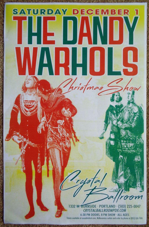 Image 0 of DANDY WARHOLS 2018 Gig POSTER Portland Oregon Concert